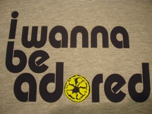 WOMENS RETRO THE STONE ROSES `I WANNA BE ADORED` LEMON T-SHIRT 4